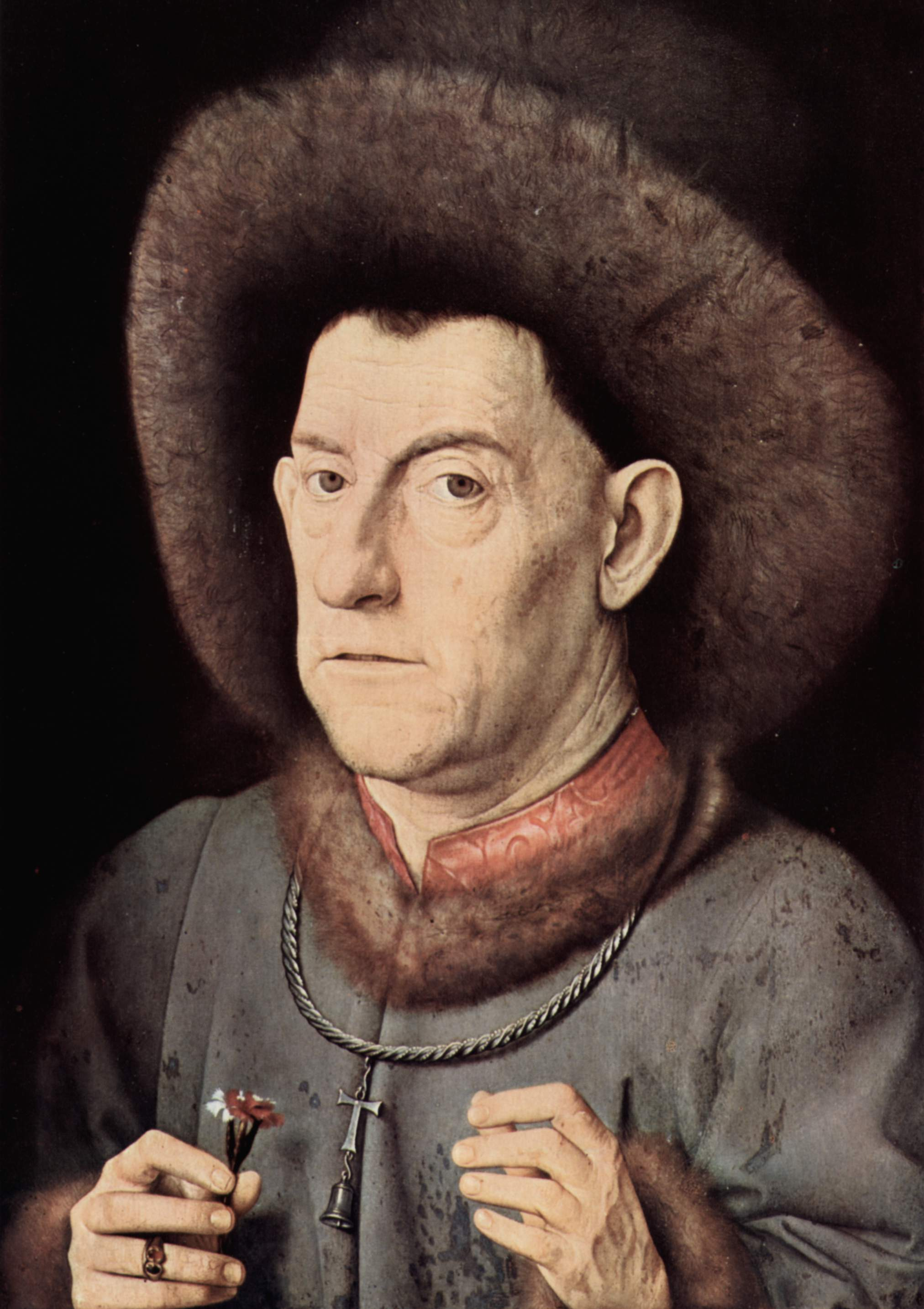 Portrait of a Man with CarnationPicture Of Jan Van Eyck