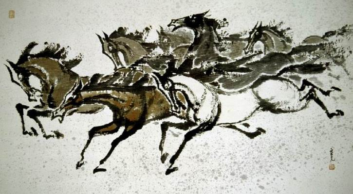 The picture of a herd of horse - Owon