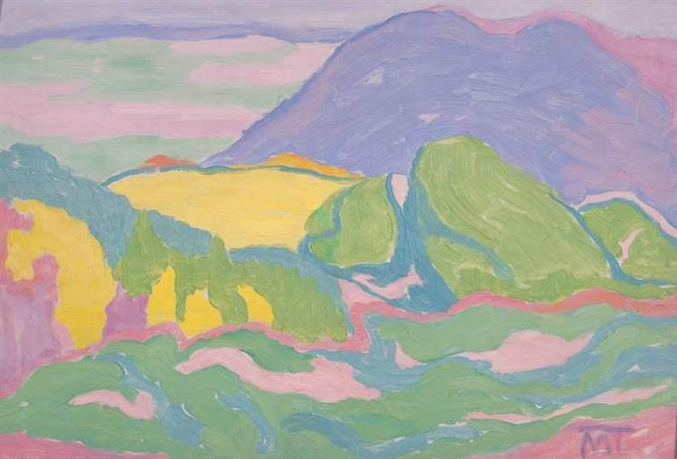 Landscape, 1915 - Janos Mattis-Teutsch