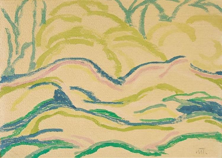 Landscape, 1916 - Janos Mattis-Teutsch