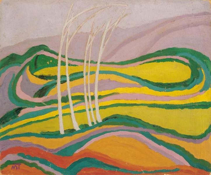 Landscape, 1917 - János Máttis-Teutsch