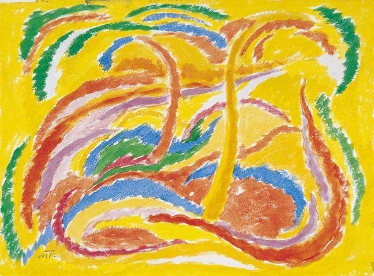 Landscape, 1918 - Janos Mattis-Teutsch