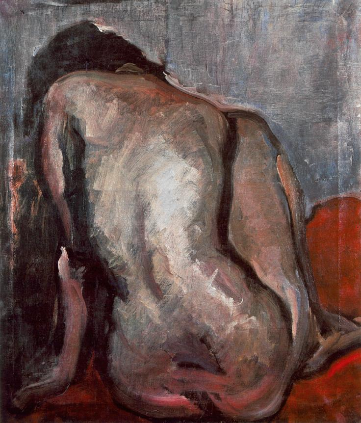 Sitting Nude from the Back, 1919
