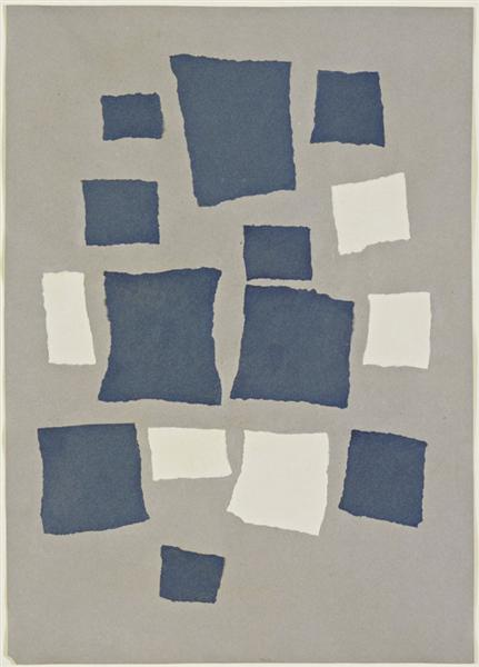Collage with Squares Arranged According to the Laws of Chance, 1917 - Jean Arp