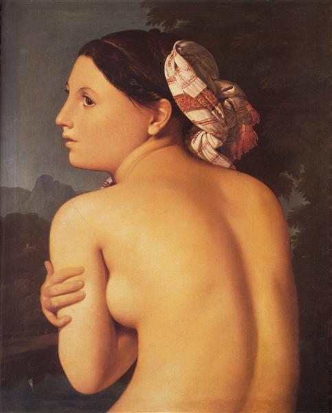 Half-figure of a Bather, 1807 - Jean Auguste Dominique Ingres