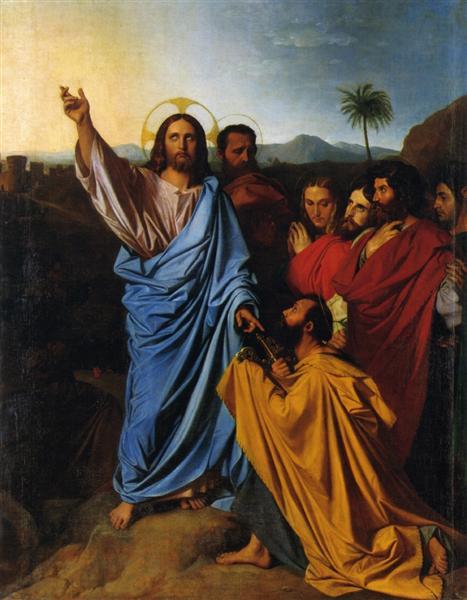 Jesus Returning the Keys to St. Peter, 1820 - Jean Auguste Dominique Ingres