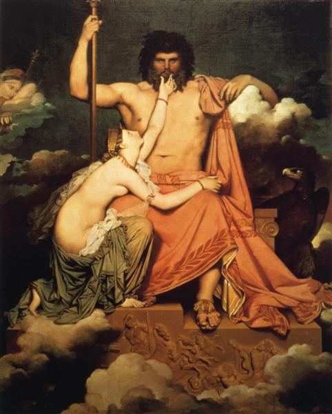 Jupiter and Thetis - Ingres Jean Auguste Dominique