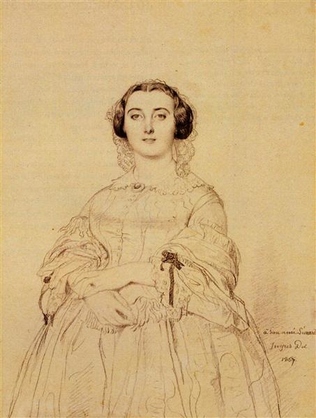 Madame Charles Simart, born Amélie Baltard - Jean Auguste Dominique Ingres