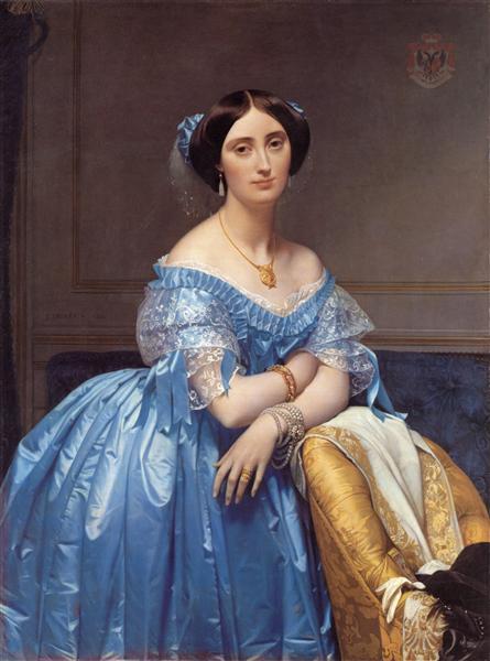 Portrait of the Princesse de Broglie, 1853 - Jean Auguste Dominique Ingres
