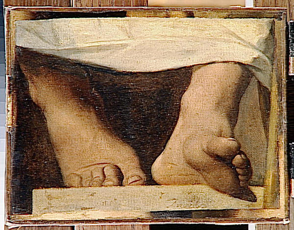 Study for the Apotheosis of Homer, Homer's feet, 1826 - 1827 - Jean Auguste Dominique Ingres