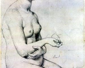 Study for 'Vénus à Paphos' - Jean Auguste Dominique Ingres