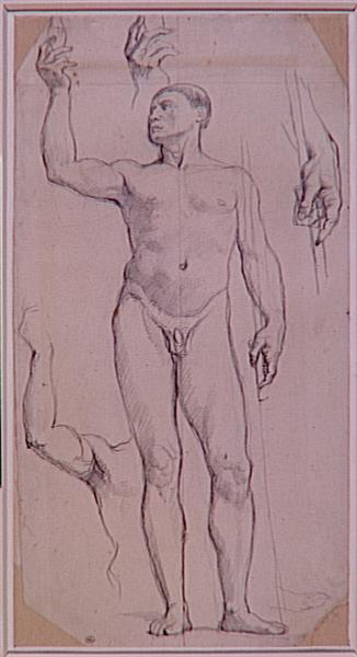 Study naked for St. Remy - Jean Auguste Dominique Ingres