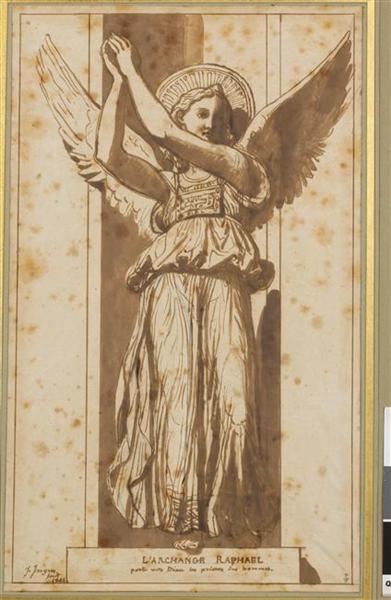 Архангел Рафаил молит Бога за людей, 1844 - Жан Огюст Доминик Энгр