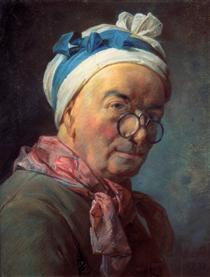 Self-Portraitwith Spectacles - Jean-Baptiste-Simeon Chardin