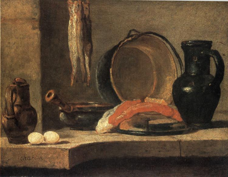 Still Life with Herrings, c.1731 - Jean-Baptiste-Simeon Chardin