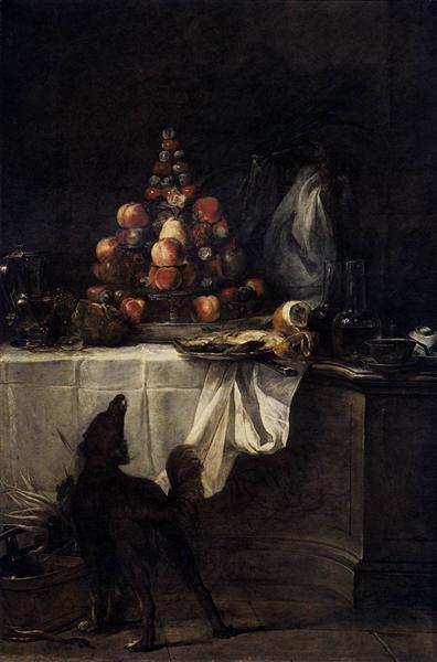 The Buffet, 1728 - Jean-Baptiste-Simeon Chardin