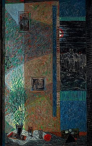 Terrasse la nuit, 1986 - Jean Bertholle