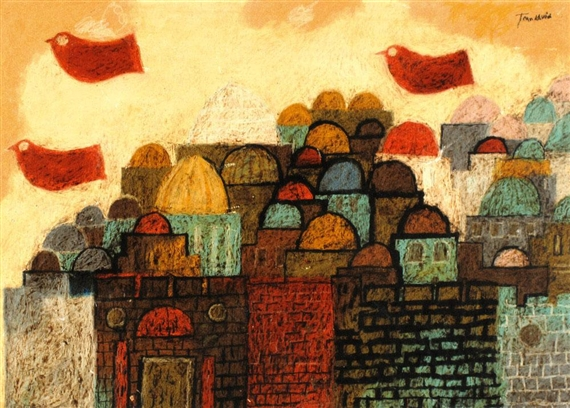 Peace Dove Over Jerusalem - Jean David