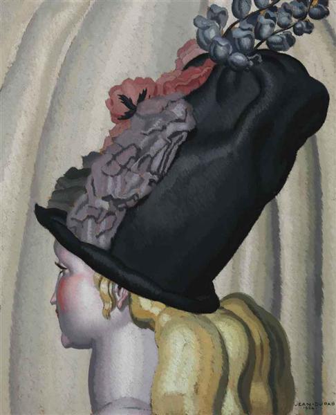 Portrait of a Woman with Hat, 1924 - Jean Dupas
