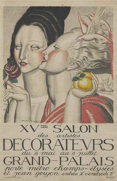 Poster for XVme Salon des artistes decorateurs, 1924 - Jean Dupas
