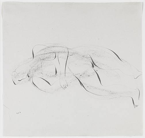 Nu couché, 1944 - Jean Fautrier