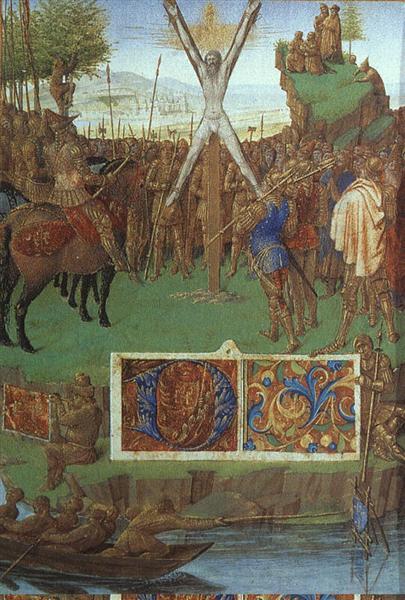 Martyrdom of St. Andrew before the Proconsul Egeas, c.1445 - Jean Fouquet