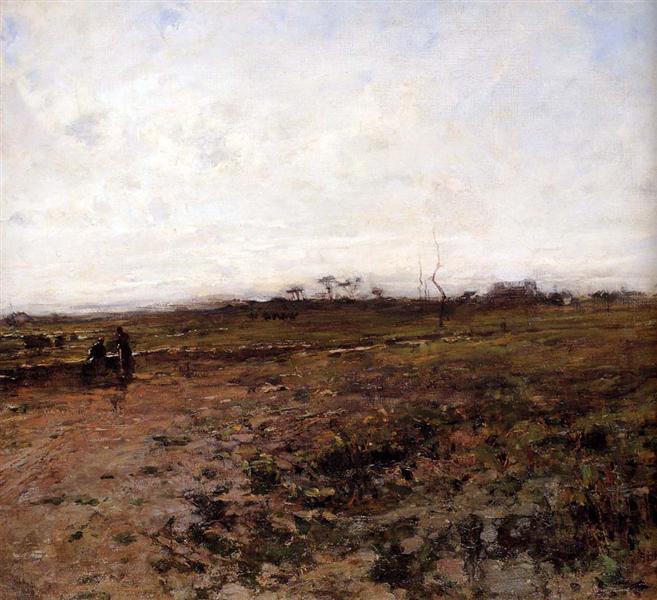 Landscape with Two Peasant Women - Jean-Francois Millet
