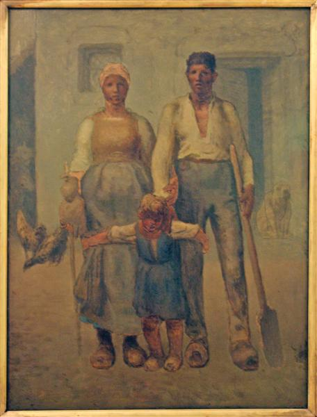 Peasant family - Millet Jean-Francois