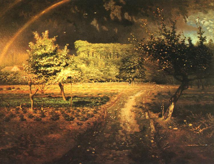 Spring at Barbizon - Jean-Francois Millet