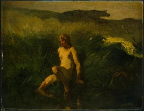 The bather - Jean-Francois Millet