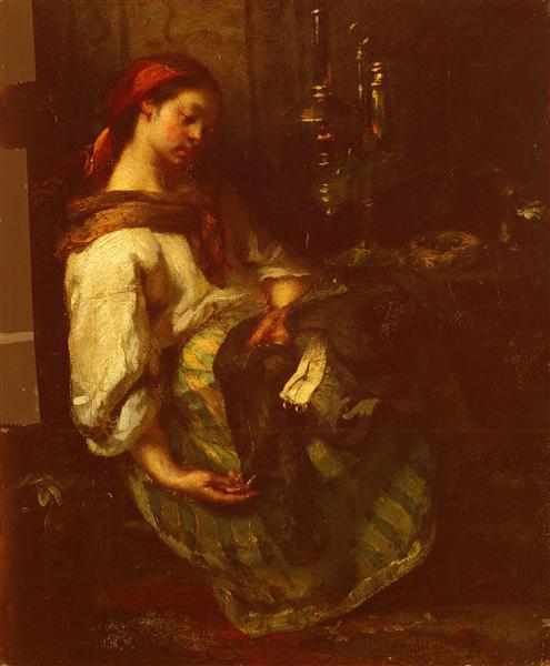 The Sleeping Seamstress - Jean-Francois Millet