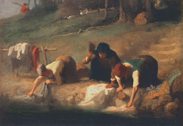 The Washerwomen - Jean-Francois Millet