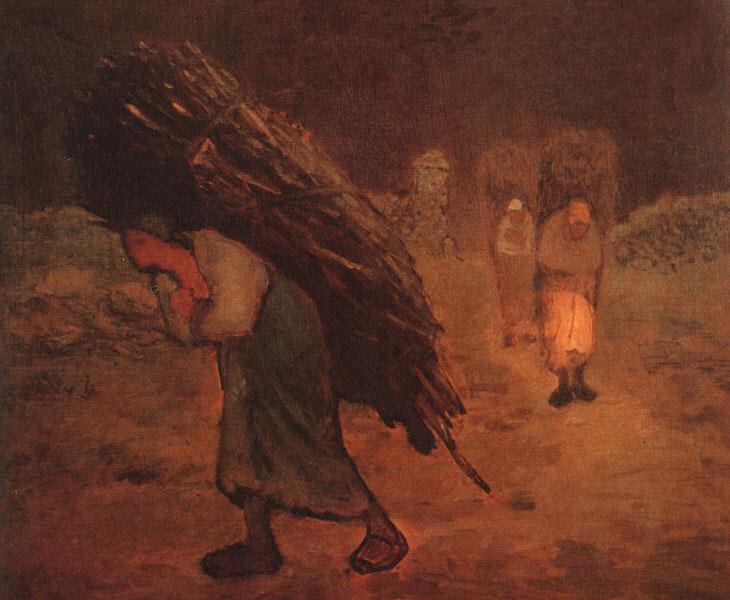 Winter: The Faggot Gatherers, 1868 - 1875 - Jean-Francois Millet