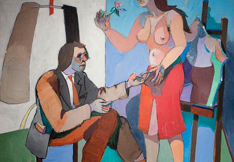 L'Abstraction, Le Peintre et le Modele, 1980 - Jean Helion