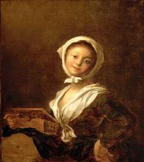 Girl with aMarmot - Jean-Honore Fragonard
