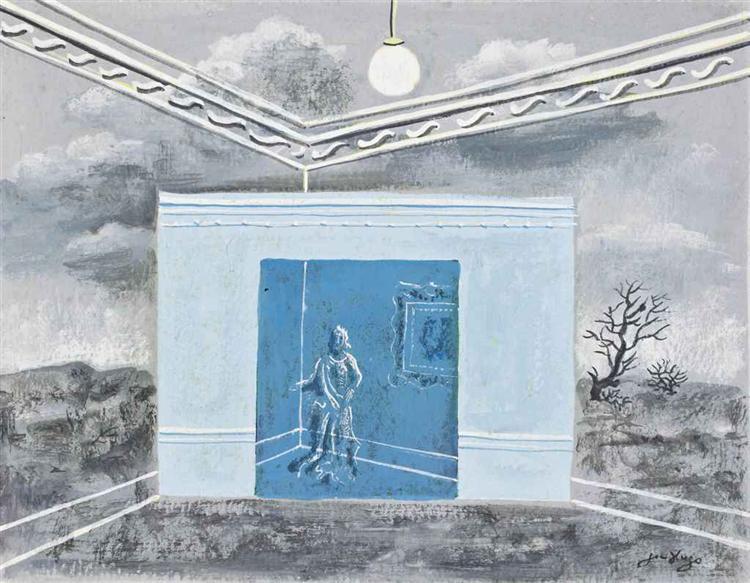 Projet pour le miroir magique 1928 jean hugo for Miroir magique obsidienne noire