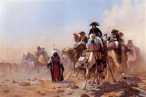 General Bonaparte with his Military Staff in Egypt - Jean-Léon Gérôme