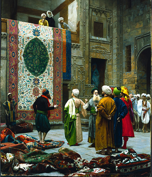 The Carpet Merchant - Jean-Leon Gerome