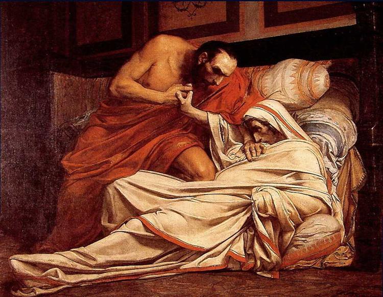 The Death of Tiberius - Jean-Paul Laurens
