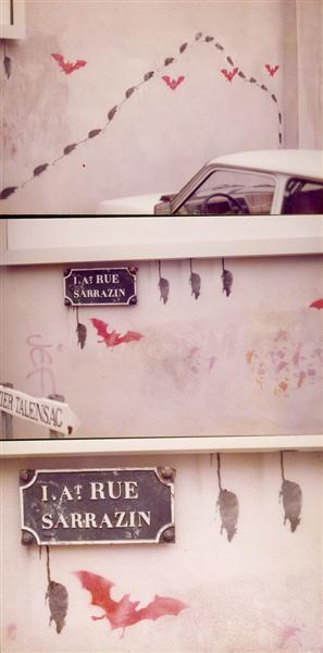 Bats and rats (Nantes, France), 1982 - Jef Aerosol