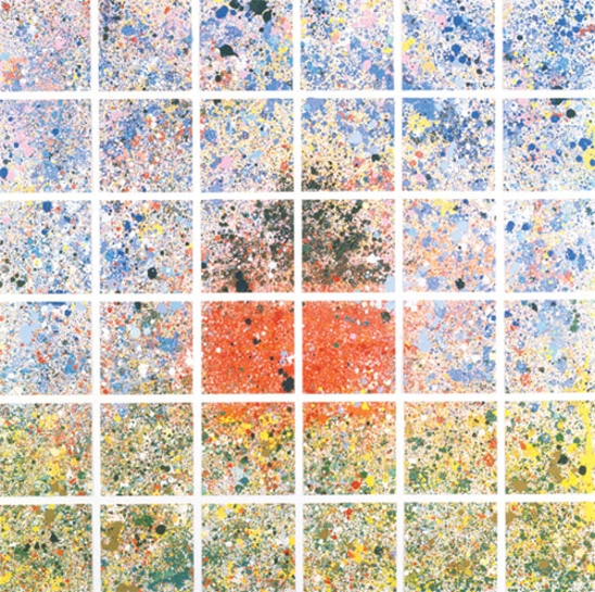 House: Spatter Painting, 1988 - Jennifer Bartlett