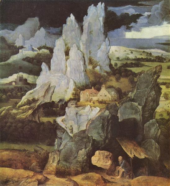 St. Jerome in Rocky Landscape, c.1520 - Joachim Patinir