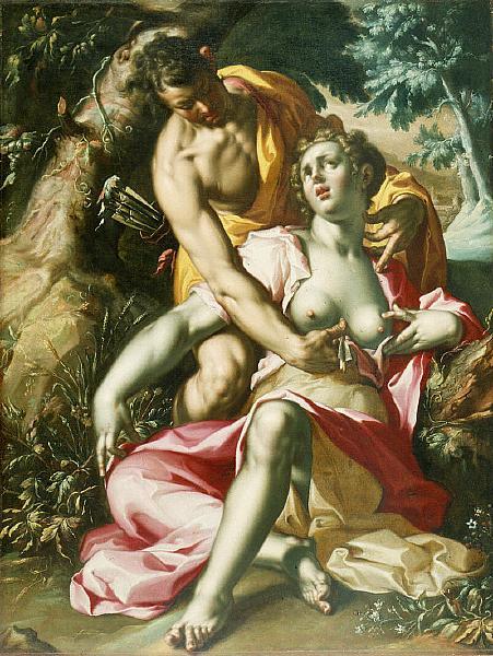 Cephalus and Procris (The Death of Procris), c.1595 - 1600 - Joachim Wtewael