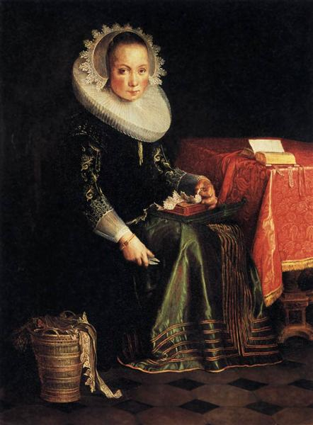 Portrait of Eva Wtewael, 1628 - Йоахим Эйтевал