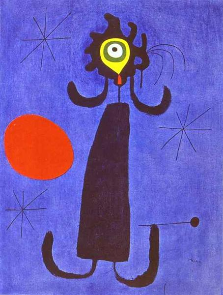 Woman in Front of the Sun, 1950 - Joan Miro