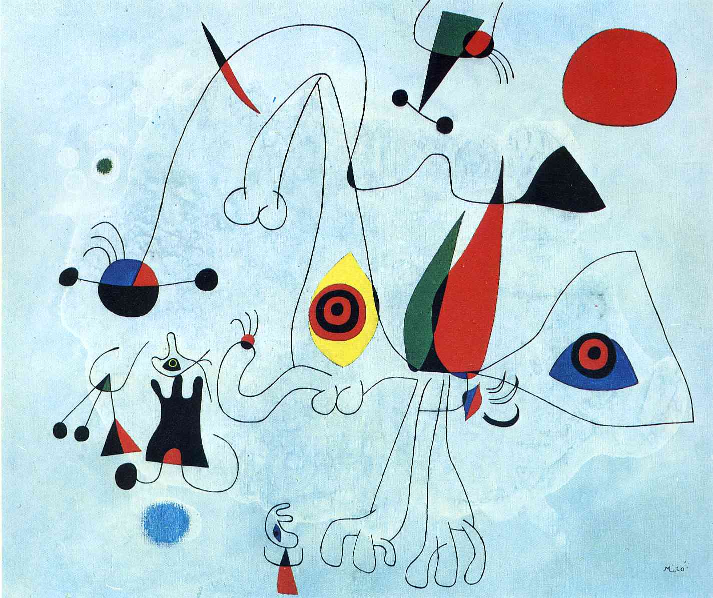 Women and Birds at Sunrise, 1946 - Joan Miro - WikiArt.org