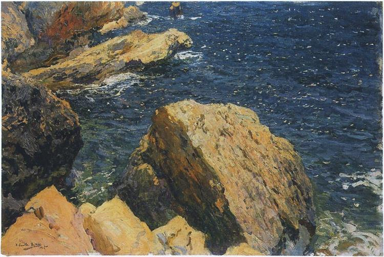Rocks of the Cape, Javea, 1905 - Joaquín Sorolla
