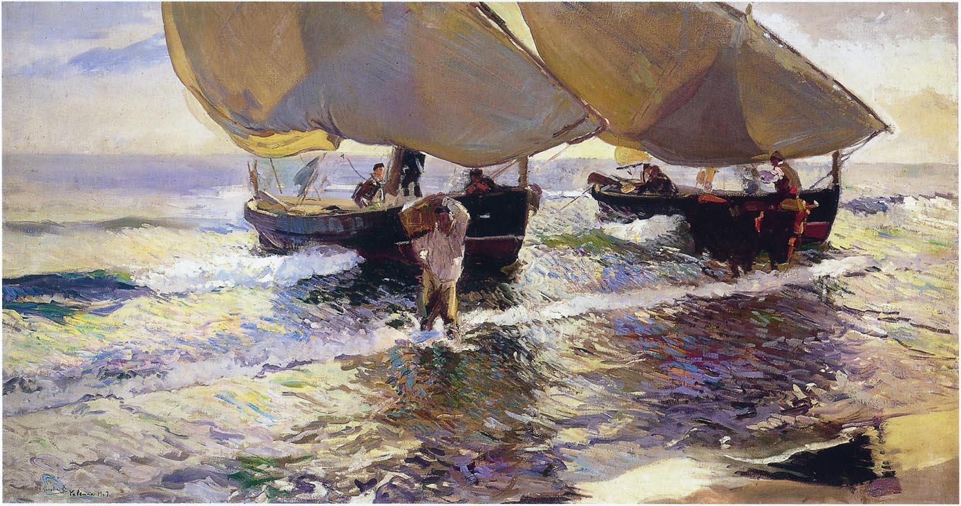 The arrival of the boats joaqu n sorolla - Galeria de arte sorolla ...