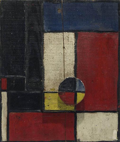 Objet Plastique  Planos de color con dos maderas superpuestas, 1928 - Joaquín Torres García