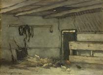 Stalinterieur - Johan Hendrik Weissenbruch